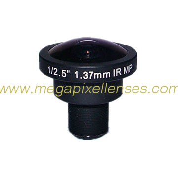 "1/2.5"" 1.37mm 5Megapixel S-mount M12 Mount 183degree IR Fisheye Lens, 5MP Panoramic camera lens"