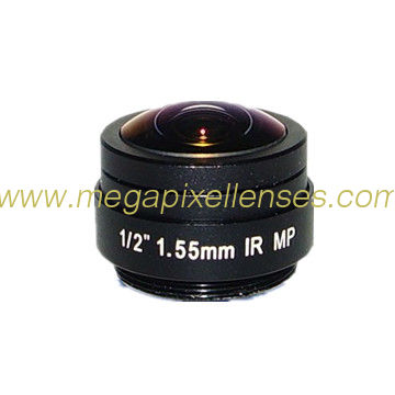 "1/2"" 1.55mm Megapixel CS Mount 185degrees super wide angle IR Fisheye Lens"