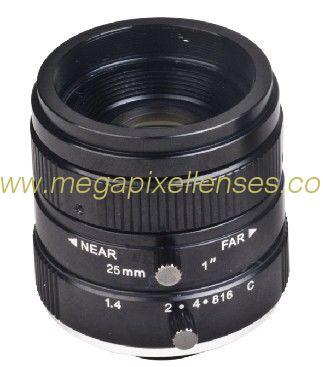 "1"" 25mm F1.6 10Megapixel Low-distortion C Mount Lens for Traffic Monitoring"