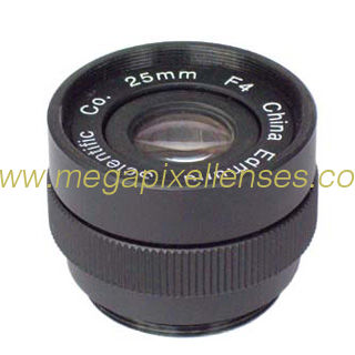 25mm F4.0 Industrial C mount Lens, Format φ14 F4.0~Close C mount Lens