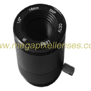 "1/2"" 16mm F2.0 5Megapixel CS-mount IR CCTV Lens 121620IRCS-5MP"