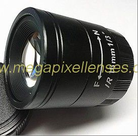 "1/3"" 16mm F1.2 Megapixel CS-mount CCTV Lens 131612CS-MP"