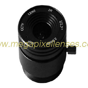 "1/2.7"" 3.6mm F1.8 3Megapixel CS-mount Fixed IRIS IR CCTV Lens"