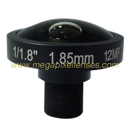 "1/1.8"" 1.85mm 12Megapixel M12x0.5 mount 185degree Fisheye Lens for IMX172/IMX185/IMX226"