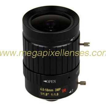 "1/1.8"" 4-18mm F1.6 3Megapixel C-mount Manual IRIS Manual Zoom IR Vari-focal Lens for IMX185"