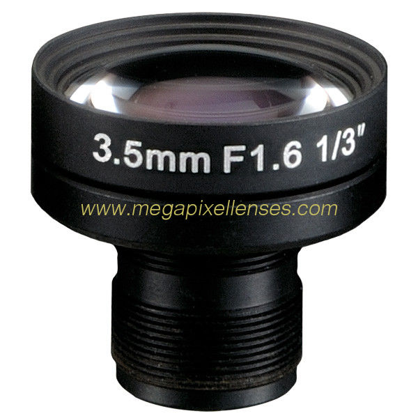 "1/3"" 3.5mm Megapixel F1.6 S mount M12x0.5 Mount Non-Distortion IR Board Lens"