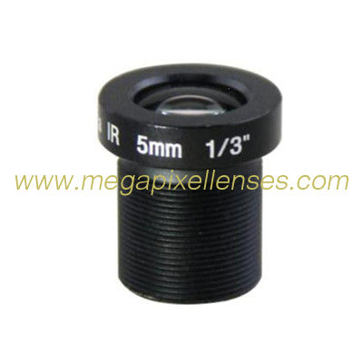 "1/3"" 5mm 3Megapixel S-mount M12 mount low-distortion IR lens, 5mm lens for 1/3"" 1/3.2"" 1/4"" sensors"