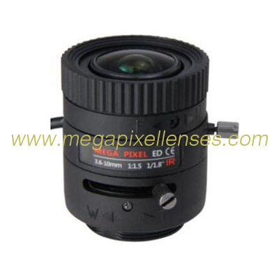 "1/1.8"" 3.6-10mm F1.5 3MP/6MP/4K DC Auto IRIS CS Mount IR Vari-focal Lens for IMX185/IMX178/IMX226"
