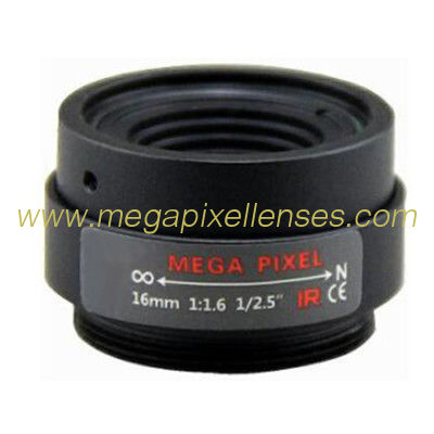 "1/2.5"" 16mm F1.6 3Megapixel CS-mount Fixed Focal IR Lens Megapixel Prime Lens"