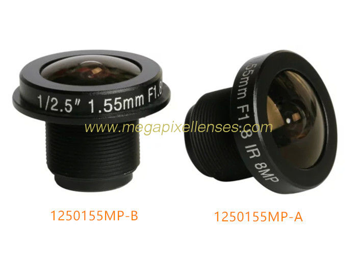 "1/2.5"" 1.55mm 8Megapixel M12 mount wide-angle 185degree fisheye lens for panoramic cameras"