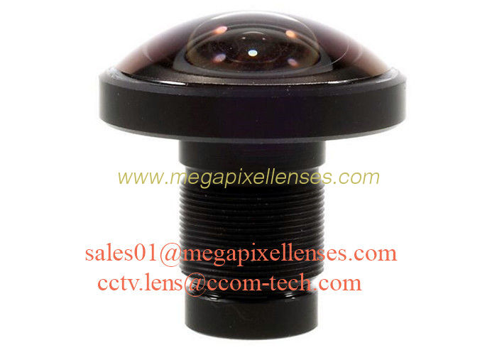"1/2.3"" 1.2mm 16Megapixel M12x0.5 mount 220degree Fisheye Lens for IMX117/IMX206, 4K fisheye lens for 360VR"