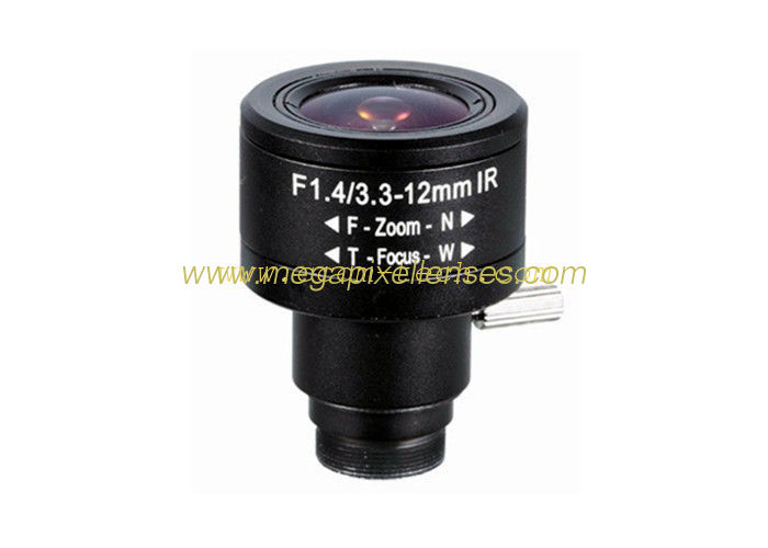"1/2.5"" 3.3-12mm F1.4 5MP/4K D14 Mount Fixed/DC Auto/P-IRIS Manual/Motorized Vari-focal Lens"