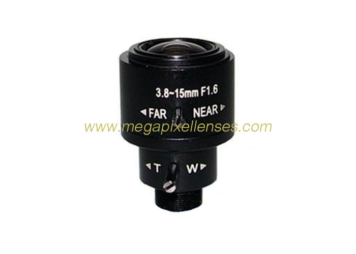 "1/3"" 3.8-15mm F1.6 2Megapixel M12x0.5 Mount Fixed/DC Auto IRIS Manual Zoom/Focus Vari-focal Lens"