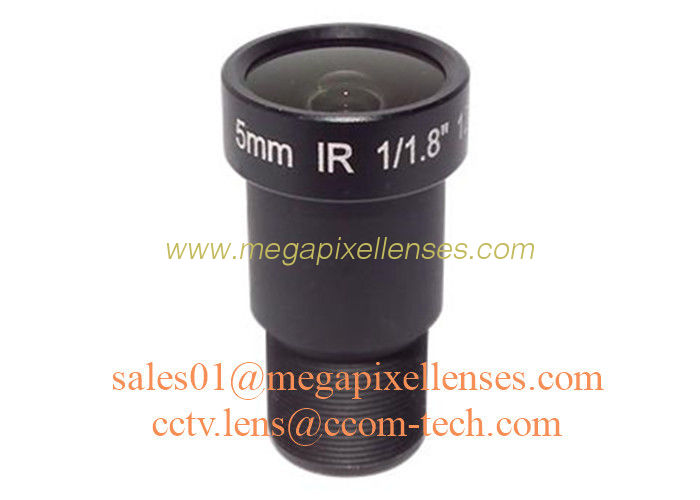 "1/1.8"" 5mm F2.0 12Megapixel M12x0.5 mount  114degree wide angle board lens, 4K board lens"