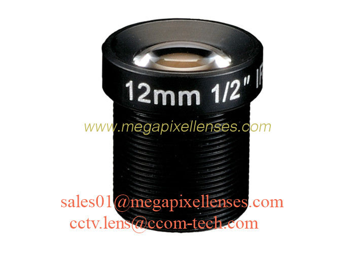 "1/2"" 12mm F1.6 2Megapixel M12x0.5 mount IR board lens, 12mm MTV lens for security camera"