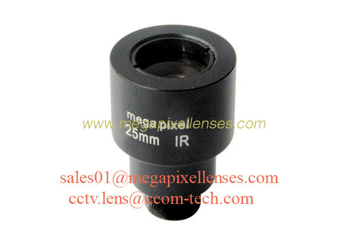 "1/2"" 25mm F1.6 3MP 1080P M12 Mount Fixed Focal Lens for security cameras, 25mm MTV lens"