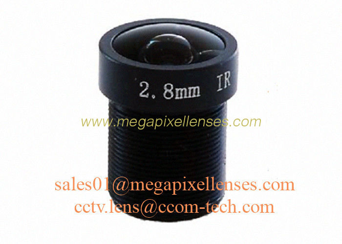 "1/2.7"" 2.8mm F2.0 3Megapixel M12x0.5 mount 130degree IR board lens for security camera"