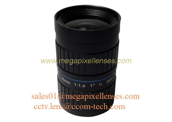 "1"" 35mm F1.4 8Megapixel C Mount Manual IRIS Low Distortion ITS Lens, 35mm Traffic Monitoring Lens"