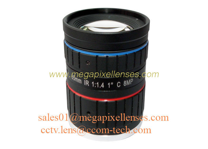 "1"" 35mm F1.4 8Megapixel Low Distortion C Mount ITS Lens with IR Collection, Traffic Monitoring Lens"