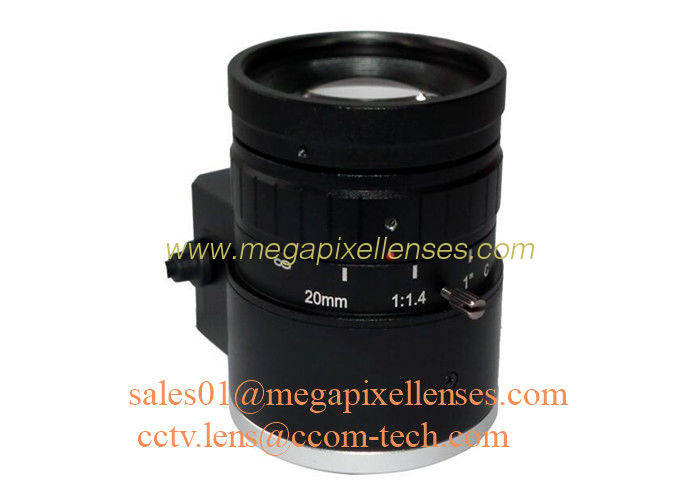 "1"" 20mm F1.4 8Megapixel DC Auto IRIS Low Distortion C Mount ITS Lens, Compact 20mm Traffic Monitoring Lens"