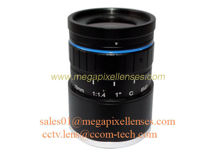 "1"" 16mm F1.4 8Megapixel DC Auto IRIS Low Distortion C Mount ITS Lens, 16mm Traffic Monitoring Lens"