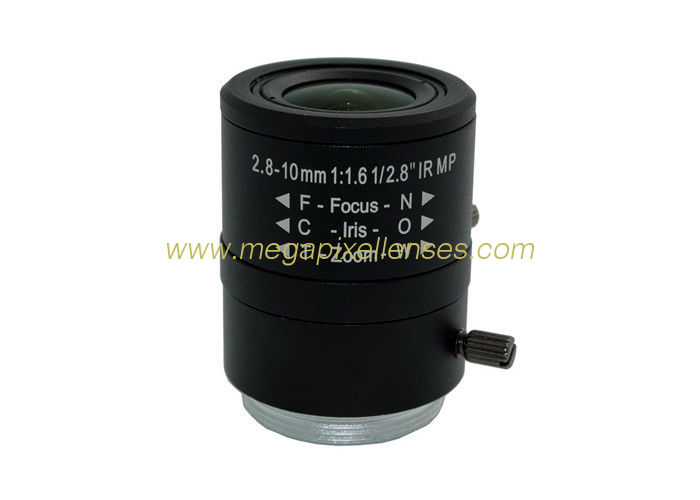 "1/2.8"" 2.8-10mm F1.6 4Megapixel Manual/DC Auto IRIS CS Mount IR Vari-focal Lens"