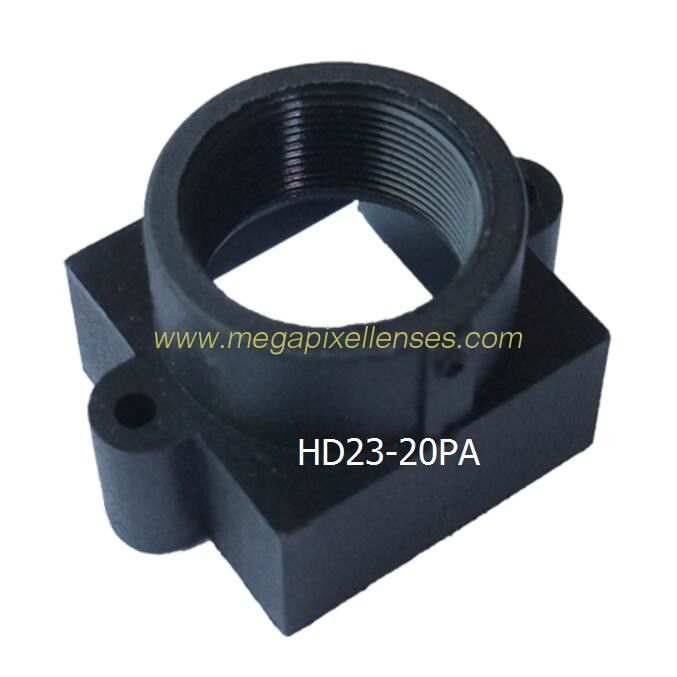 Plastic/plastic-steel M12x0.5 mount Lens Holder, 20mm fixed pitch holder, height 14.5mm