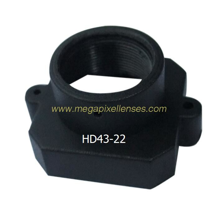 Plastic M12x0.5 mount Lens Holder, 22mm fixed pitch holder for board lenses, height 12.9mm