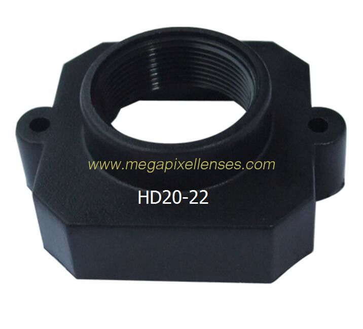Plastic M12x0.5 mount Lens Holder, 22mm fixed pitch holder for board lenses, height 8.3mm