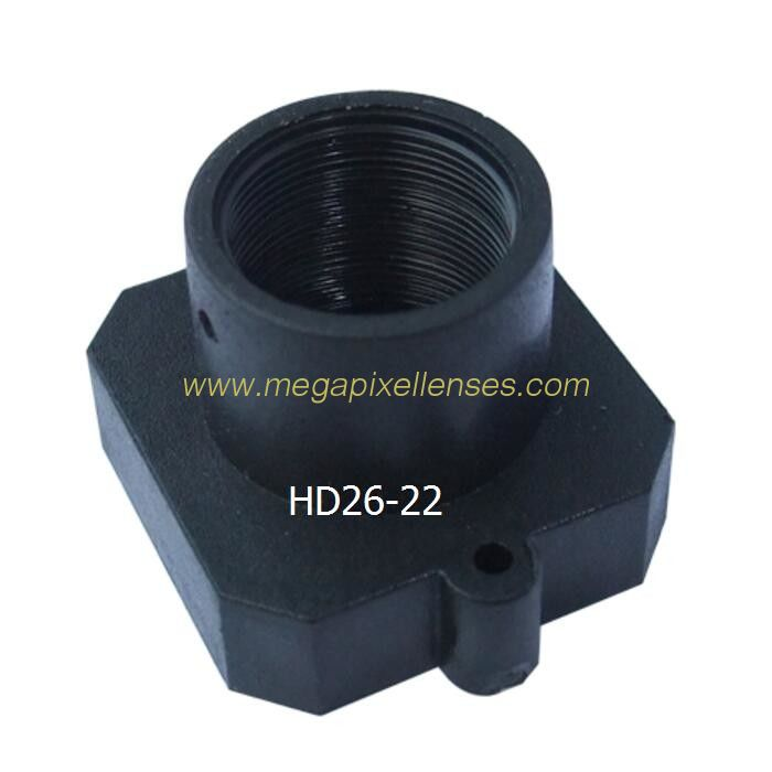 Plastic M12x0.5 mount Lens Holder, 22mm fixed pitch holder for board lenses, height 16mm