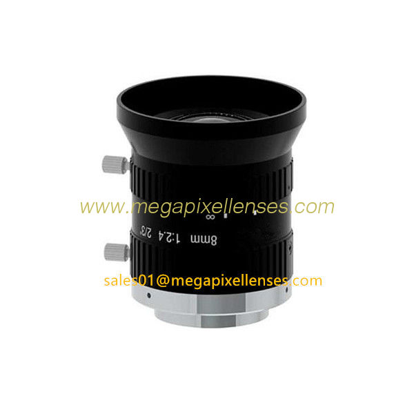 "2/3"" 8mm/12mm F2.4 5MP Manual IRIS C Mount Industrial FA Lens for 2/3"", 1/1.8"", 1/2"", 1/2.9"""