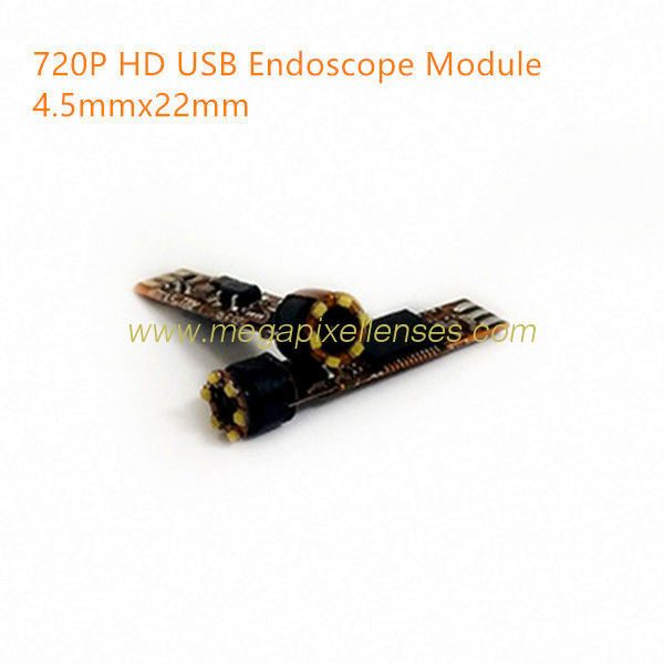 720P HD Megapixel USB endoscope video camera module 25fps YUV MJPG DC5V plug play driveless USB endoscope D4.5mmxL22mm