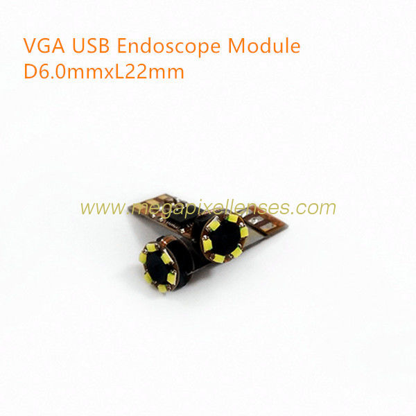 VGA 0.3MP USB endoscope video camera module 25fps YUV MJPG DC5V plug play driveless USB endoscope D6.0mmxL22mm
