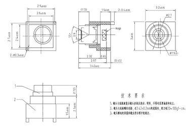 """1/18"""" 1.0mm lens for OmniVision OV6920/OV6922, 55degree F3.0 endoscope lens"""