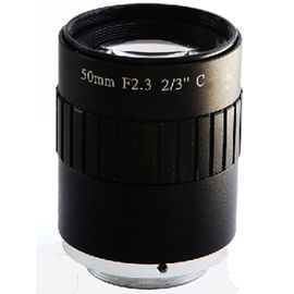 "China 2/3"" 50mm F2.3 5Megapixel Manual IRIS Low Distortion C Mount ITS Lens, 50mm Traffic Monitoring Lens factory"