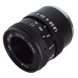 "China 1/2"" 25mm F1.8 Industrial C mount Lens, F1.8~Close Manual IRIS C mount Lens factory"