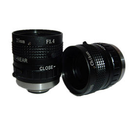 "China 2/3"" 25mm F1.4 5Megapixel Industrial C Mount Lens, F1.4~22 television industrial lens factory"