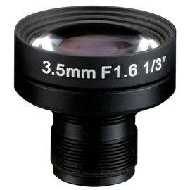 "China 1/3"" 3.5mm Megapixel F1.6 S mount M12x0.5 Mount Non-Distortion IR Board Lens factory"