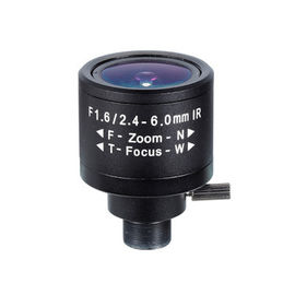 "1/3"" 2.4-6.0mm 2Megapixel F1.6 M12x0.5 Mount Fixed IRIS Manual Zoom/Focus IR Vari-focal Lens"