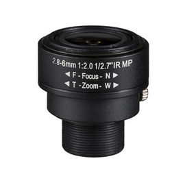 "China 1/2.7"" 2.8-6.0mm 3Megapixel F2.0 S-Mount M12x0.5 mount Fixed IRIS Manual Zoom lens Vari-focal IR Lens factory"