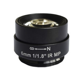"China 1/1.8"" 6mm F1.8 5Megapixel CS Mount Non-Distortion IR Lens for 1/1.8"" ~ 1/3"" sensors factory"