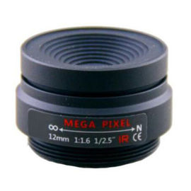 "China 1/2.5"" 12mm F1.6 3Megapixel CS-mount Fixed Focal IR Lens Megapixel Prime Lens factory"