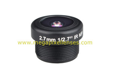 "1/2.7"" 2.7mm F2.2 3Megapixel M12x0.5 mount 180degree wide angle lens for doorbell/car camera"