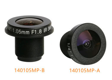 "China 1/4"" 1.05mm 3Megapixel M12 mount wide-angle 185degree IR fisheye lens for panoramic cameras factory"