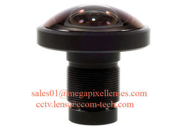 "China 1/2.3"" 1.2mm 16Megapixel M12x0.5 mount 220degree Fisheye Lens for IMX117/IMX206, 4K fisheye lens for 360VR factory"