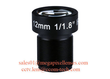 "China 1/1.8"" 12mm 5Megapixel F1.8 S/CS Mount M12x0.5 Non-Distortion IR Board Lens for 5MP-10MP HD sensors factory"