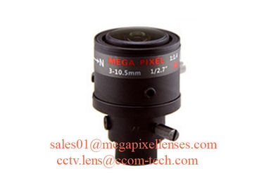 "China 1/2.7"" 3-10.5mm F1.4 3MP D14/CS Mount Fixed/DC Auto/P-IRIS Manual/Motorized Vari-focal Lens for OV2715 factory"