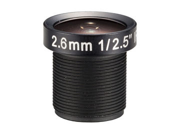 "China 1/2.5"" 2.6mm F2.0 8Megapixel M12x0.5 Mount 160degree Wide Angle Lens, 2.6mm cctv lens factory"