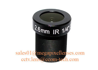 "China 1/4"" 2.6mm F2.2 2Megapixel M12x0.5 mount 121degree wide-angle lens for OV9712/OV9732 factory"