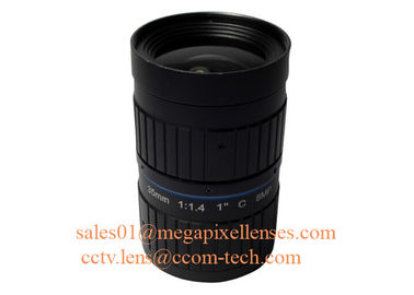"China 1"" 35mm F1.4 8Megapixel C Mount Manual IRIS Low Distortion ITS Lens, 35mm Traffic Monitoring Lens factory"